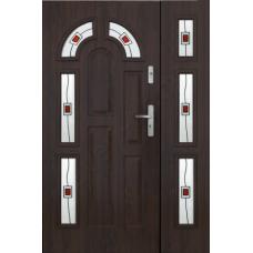 Металлическая дверь КТМ VIIs7 Orzech ciemny