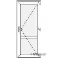 Входные двери ПВХ  Вариант 1
