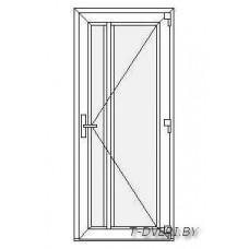 Входные двери ПВХ  Вариант 3