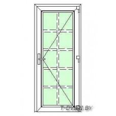 Входные двери ПВХ  Вариант 4