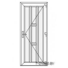 Входные двери ПВХ  Вариант 5