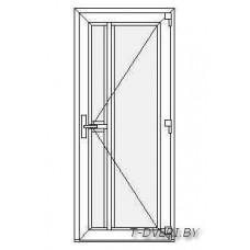 Входные двери ПВХ  Вариант 7