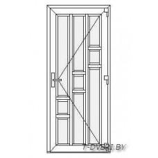 Входные двери ПВХ  Вариант 8