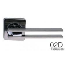 Ручка дверная  на квадратной розетке Zambrotto 02D