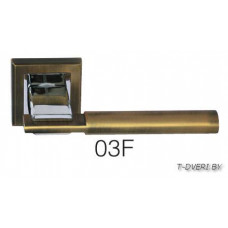 Ручка дверная  на квадратной розетке Zambrotto 03
