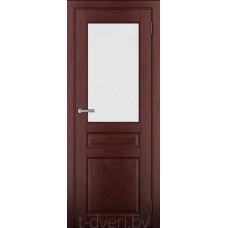 Дверь межкомнатная из массива ольхи Дорвуд модель Бостон ЧО Махагон
