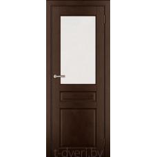 Дверь межкомнатная из массива ольхи Дорвуд модель Бостон ЧО Орех