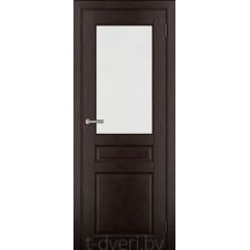 Дверь межкомнатная из массива ольхи Дорвуд модель Бостон ЧО Венге