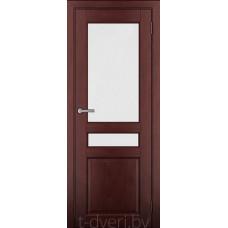 Дверь межкомнатная из массива ольхи Дорвуд модель Бостон ДО Махагон