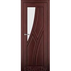 Дверь межкомнатная из массива ольхи Дорвуд модель Клэр ЧО Махагон