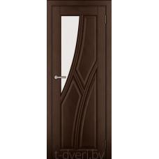 Дверь межкомнатная из массива ольхи Дорвуд модель Клэр ЧО Орех