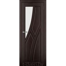 Дверь межкомнатная из массива ольхи Дорвуд модель Клэр ЧО Венге