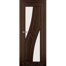Дверь межкомнатная из массива ольхи Дорвуд модель Клэр ЧО 2 Орех