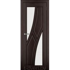 Дверь межкомнатная из массива ольхи Дорвуд модель Клэр ЧО 2 Венге
