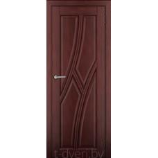 Дверь межкомнатная из массива ольхи Клэр ДГ Махагон