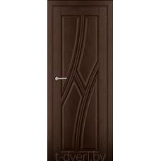 Дверь межкомнатная из массива ольхи Дорвуд модель Клэр ДГ Орех