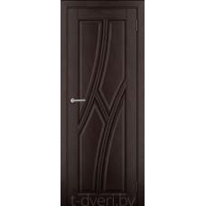 Дверь межкомнатная из массива ольхи Дорвуд модель Клэр ДГ Венге