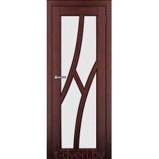 Дверь межкомнатная из массива ольхи Дорвуд модель Клэр ДО Махагон