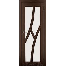 Дверь межкомнатная из массива ольхи Дорвуд модель Клэр ДО Орех