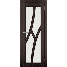 Дверь межкомнатная из массива ольхи Дорвуд модель Клэр ДО Венге