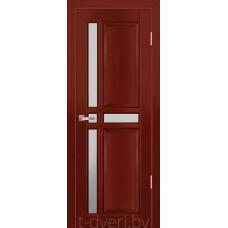 Дверь межкомнатная из массива ольхи Дорвуд модель Равелла ЧО Махагон