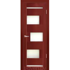 Дверь межкомнатная из массива ольхи Дорвуд модель Модена ДО Махагон