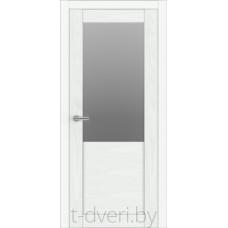 """Дверь межкомнатная шпон ясеня крашенная эмалью """"Халес"""" модель Уника 2 Тип 2HG"""