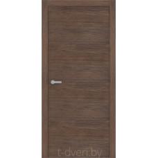 Дверь межкомнатная шпонированная дубом «Халес» модель Уника 1 Каштан