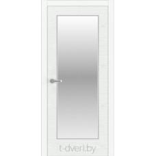 """Дверь межкомнатная шпон ясеня крашенная эмалью """"Халес"""" модель Уника 2 Тип A + зеркало"""