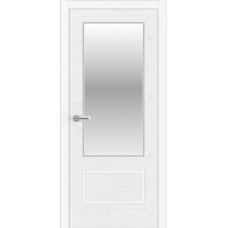 """Дверь межкомнатная шпон ясеня крашенная эмалью """"Халес"""" модель Уника 2 Тип B + зеркало"""
