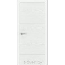 """Дверь межкомнатная шпон ясеня крашенная эмалью """"Халес"""" модель Уника 2 Тип D"""