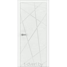 """Дверь межкомнатная шпон ясеня крашенная эмалью """"Халес"""" модель Уника 2 Тип E"""