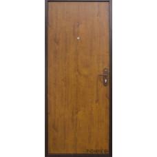 Металлическая дверь Йошкар модель Стройгост 5-1 Золотистый дуб