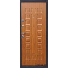 Металлическая дверь Йошкар модельс панелью Золотистый дуб