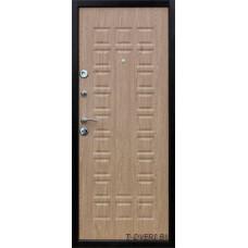 Металлическая дверь Йошкар модельс панелью Карпатская ель