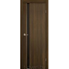 Дверь Эго 3-1, африканский орех, черный триплекс
