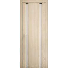 Дверь Эго 3-2, орех капучино, белый триплекс