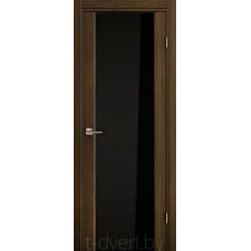 Дверь Эго 3-3, африканский орех, черный триплекс