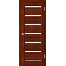 Межкомнатная дверь из массива ольхи модель Премьер Плюс ЧО Махагон