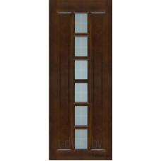 Дверь межкомнатная из массива сосны модель М11 ДО Тёмный лак