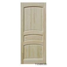 Дверь межкомнатная из массива сосны модель М16 ДГ неокрашенная