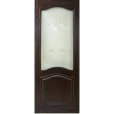 Дверь межкомнатная из массива сосны модель М7 ДО (стекло Мателюкс) без рамки