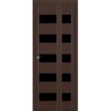 Дверь 29x складная Венге мелинга, триплекс черный, белый