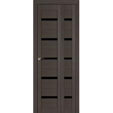Дверь 7x складная Венге мелинга, триплекс черный, белый