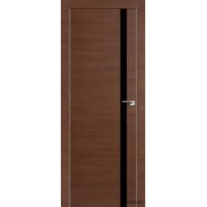Межкомнатная дверь ProfilDoors 6Z,  частично остекленная,  черный лак