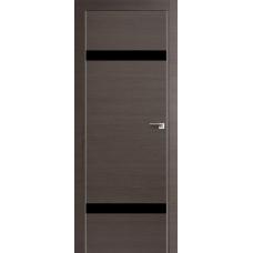 Межкомнатная дверь ProfilDoors 3Z, черный лак, частично остекленная