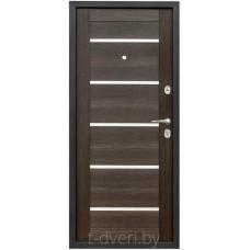 Дверь металлическая Промет Виктория царга (венге)