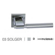 Ручка дверная на квадратной розетке SOLGER 03D