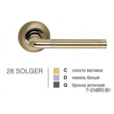 Ручка дверная на круглой розетке SOLGER 28