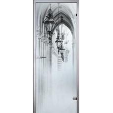 Межкомнатная дверь - Аркада, стекло матовое